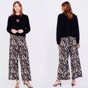 Zara patterned palazzo pants
